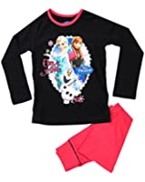 Kids Girls Boys Official Disney Frozen Queen Elsa Anna Pyjamas Childrens 2 Piece Set Pj's Long Sleeves 100% Cotton Size 1 - 12 Years