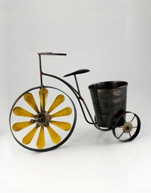 Unbekannt Garten Deko Metall Fahrrad Dreirad Rad Nostalgie zum Bepflanzen Blume Blumentopfhalter Pott