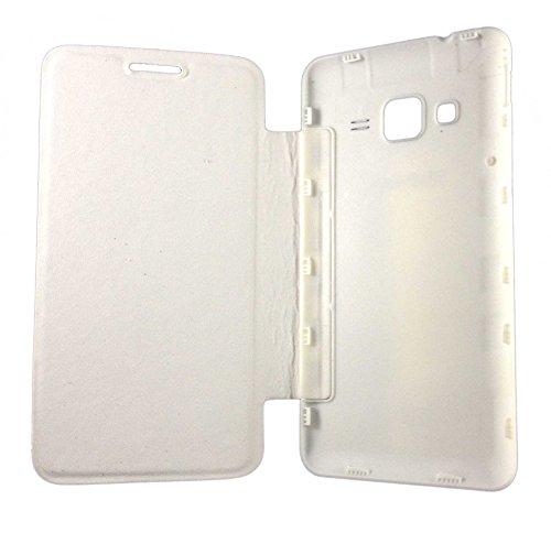 Sun Mobisys™; Samsung Z1 SM-Z130H Flip Cover; Flip Cover Case for Samsung Z1 SM-Z130H White