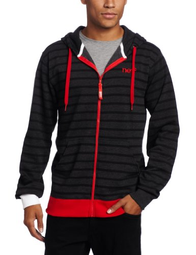 neff Men's Daily Stripe Fashion Hoodie, Black, Large