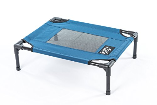 Elevated cooling pet bed by 2PET Deluxe with Oxford fabric and mesh Medium Blue - Model EPB05