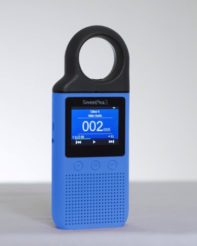New Sweetpea3 (V.2.0) 4 Gb Mp3 Player For Kids (Blue)