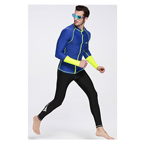 [AZSHARAA summer long-sleeved zipper wetsuit jellyfish wetsuit sun protection clothing surfing suits Man and Women (MAN,] (Rip Curl Swimming Costumes)