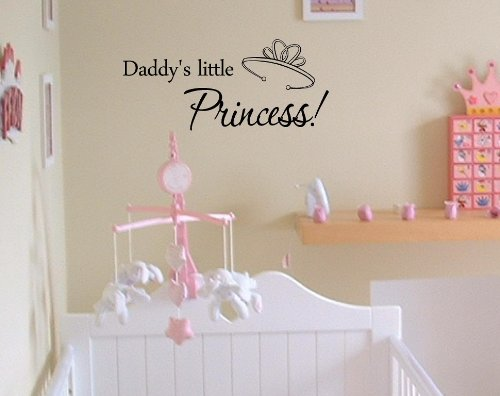 Daddy'S Little Princess!Vinyl Wall Art Inspirational Quotes And Saying Home Decor Decal Sticker front-647494