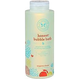 Honest Super Foaming Tangerine Bubble Bath 12oz (Pack of 2/24 oz total)