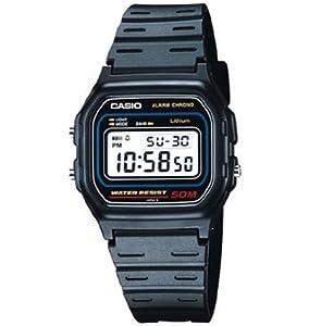 (疯抢)卡西欧Casio W59-1V Classic Black Digital Watch男士黑色电子手表$12.95