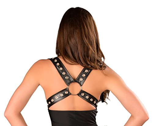 J. Valentine Women's Black Cat Harness