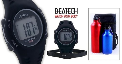Cheap Sopra Beatech BHS7000 FL55 Beatech Heart Rate Monitor with Chest Strap with Aluminum Camping Bottle Set (Beatech BHS7000 + FL55)