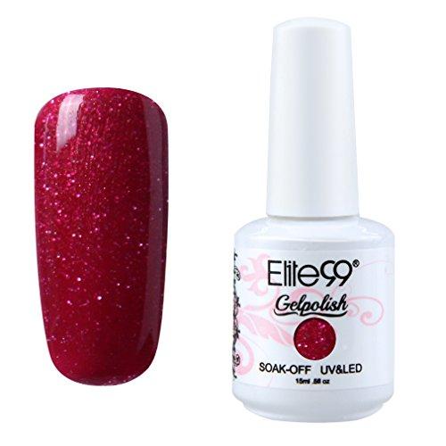Elite99 Soak-off Gel Polish Lacquer Nail Art UV LED Manicure Varnish 15ml Pearl Sangria 1363