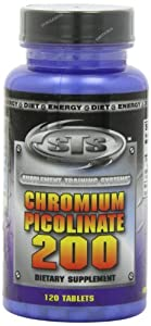 Suplemental Training Systems Chromium Picolinate 200, Tablets, 120 Count