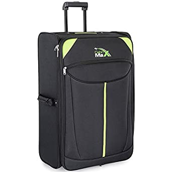 Cabin Max Global - Extra Large 107L Lightweight Folding Trolley Suitcase Luggage 71 x 46 x 33cm