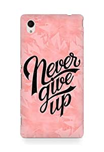 AMEZ never give up Back Cover For Sony Xperia M4