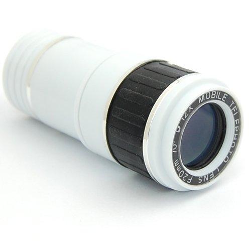 Anpower 12X Zoom F20Mm 70° Degree Camera Lens Telephoto Telescope W/ Case For Ipad Mini (White)