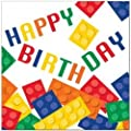 Building Blocks Deluxe Birthday Party Pack for 16 Guests (More Than 40 Pieces)