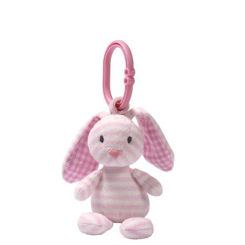 Gund Baby Rattle, Brynlee Bunny front-905798