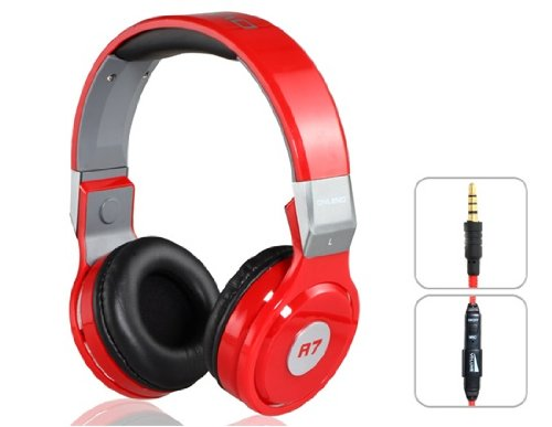 Onceall Ovleng A7 3.5Mm Plug Stereo Headphones With Microphone, 2.2M Cable (Red)