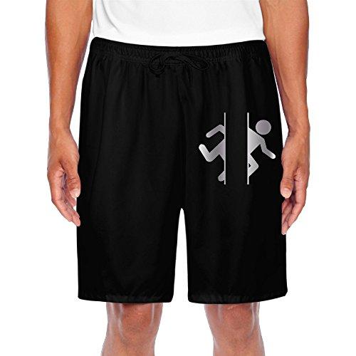 mens-adesivo-porta-logo-platinum-style-shorts-sweatpants-black