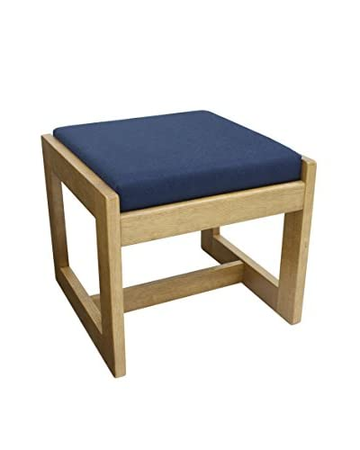 Regency Single Seat Bench, Medium Oak/Blue