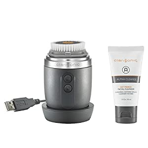 Clarisonic Alpha Fit 2 Speed Men's Facial Cleansing Brush, Gray