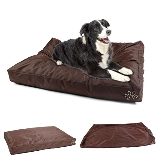 """1Pcs Foremost Popular Pet Bed Cover Size L 36"""" x 29"""" Zipper Dirty Protects Cushion Color Type Brown Oxford"""