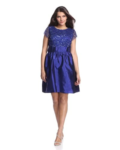 Adrianna Papell Plus Women's Sequin Dress  [Amethyst]