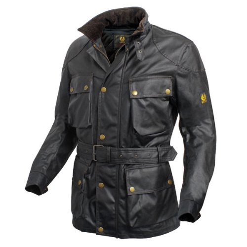 Belstaff Trialmaster Classic Tourist Trophy Wax Cotton Motorcycle Jacket, large