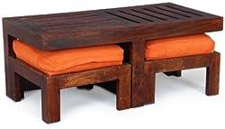 The Attic French Style Glasgow Center Table (Matt Finish, Walnut)