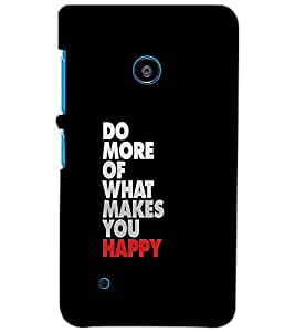 NOKIA LUMIA 530 DO MORE Back Cover by PRINTSWAG