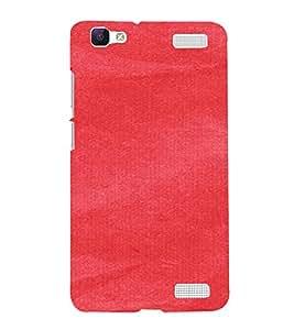 PrintVisa Red Canvas Paper Design 3D Hard Polycarbonate Designer Back Case Cover for VivoV1MAX