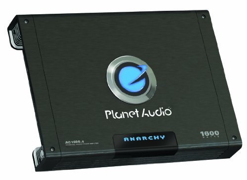 Planet Audio Ac1600.4 Anarchy 1600-Watts Full Range Class A/B 4 Channel 2 Ohm Stable Amplifier
