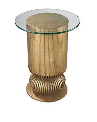 Artistic Lighting Sock Bun Side Table, Antique Gold Leaf
