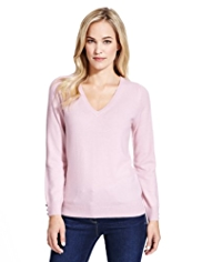 M&S Collection Pure Cashmere V-Neck Jumper