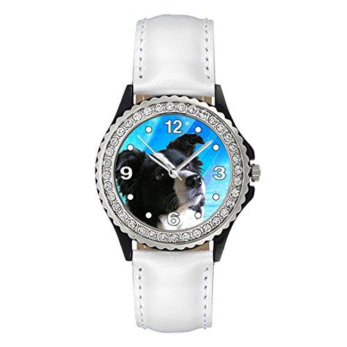 border-collie-strass-montre-femme-bracelet-cuir-blanc