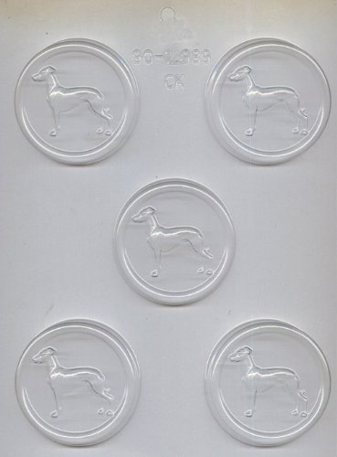 fef3d64781 CK Products Greyhound on 2-1 2-Inch Round Chocolate Mold