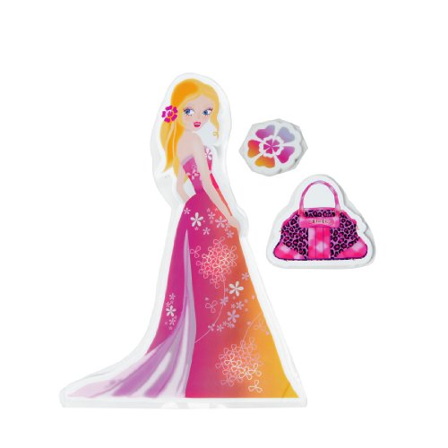 Diy Removable Longuette Girl Bag Design 3 In 1 Foam Wall Sticker front-168824