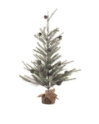 Napa Home & Garden Vintage-Inspired Glitter Pine Tree, Platinum