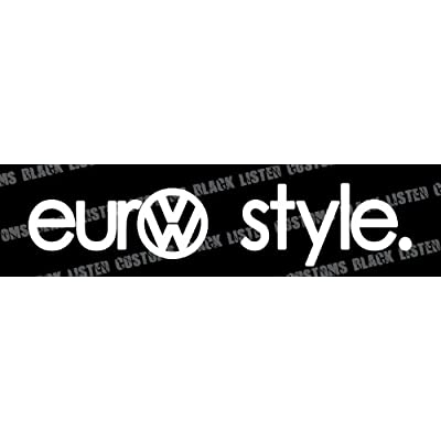 Amazon.com: Euro Style Volkswagen VW Euro JDM Tuner Vinyl Decal
