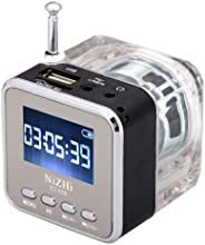 TOMTOP Mini Digital Portable Music MP3/4 Player Micro SD/TF USB Disk Speaker FM Radio (Black)