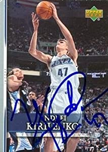 Andrei Kirilenko Autographed Hand Signed Basketball Card (Utah Jazz) 2007 Upper Deck... by Hall of Fame Memorabilia