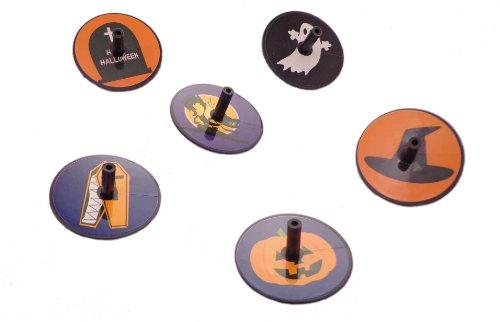 WeGlow International Halloween Spin Tops, 84-Pieces