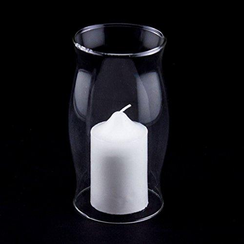 "Pillar Candle Hurricane Lamp Glass Globe 6"" Centerpiece Vase Holder Decor"
