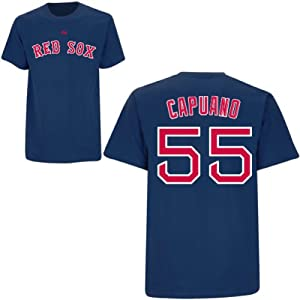 Chris Capuano Boston Red Sox Navy Player T-Shirt by Majestic by Majestic