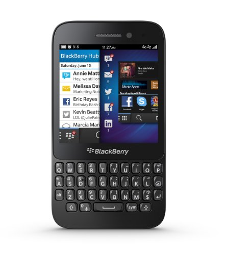 Blackberry Q5 Sim Free Smartphone - Black Black Friday & Cyber Monday 2014