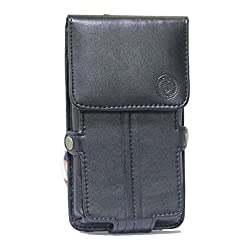 Jo Jo A6 G12 Series Leather Pouch Holster Case For Allview P6 Stony Black