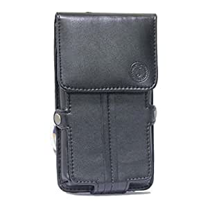Jo Jo A6 G12 Series Leather Pouch Holster Case For BLU Dash 4.0 Black