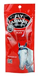 Fly Armor Horse Gear Black Browband Fly Repellent. Includes Two Inserts