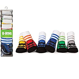 Baby 6 Pack of B-Boys Socks by Trumpette - Multi-colored - 12-24 Mths