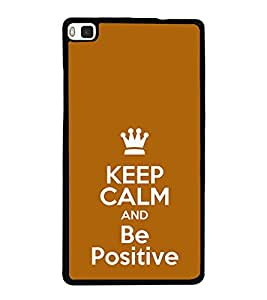 Life Quote 2D Hard Polycarbonate Designer Back Case Cover for Huawei P8