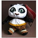 Kung Fu Panda Adorable 5 Karate Master Panda Baby Po Super Soft Plush Bean Bag Doll