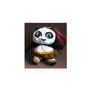 "Kung Fu Panda Adorable 5"" Karate Master Panda Baby Po Super Soft Plush Bean Bag Doll"